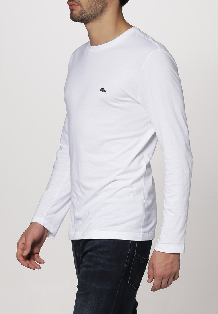 T shirt LonguesWeiß À Manches Lacoste L35qA4Rj