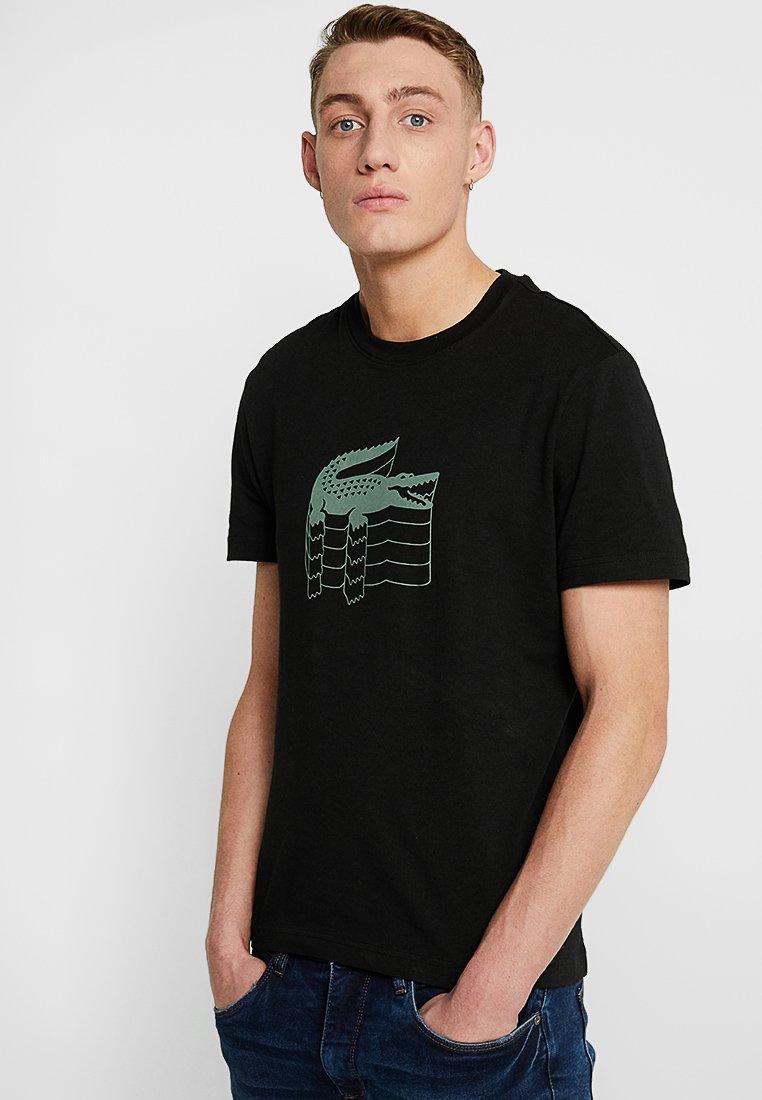 Lacoste - T-shirt imprimé - black