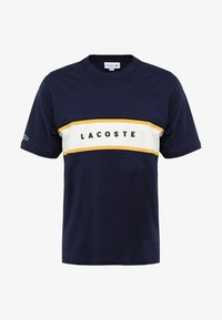 Lacoste - T-shirt med print - marine - 3