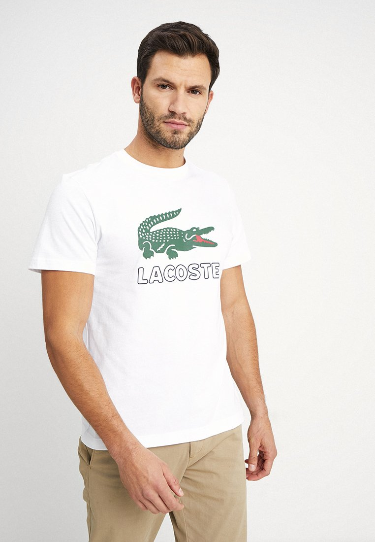 Lacoste - T-shirt con stampa - white