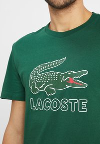 Lacoste - T-shirt print - green - 4