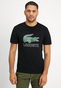 Lacoste - T-shirt con stampa - black - 0