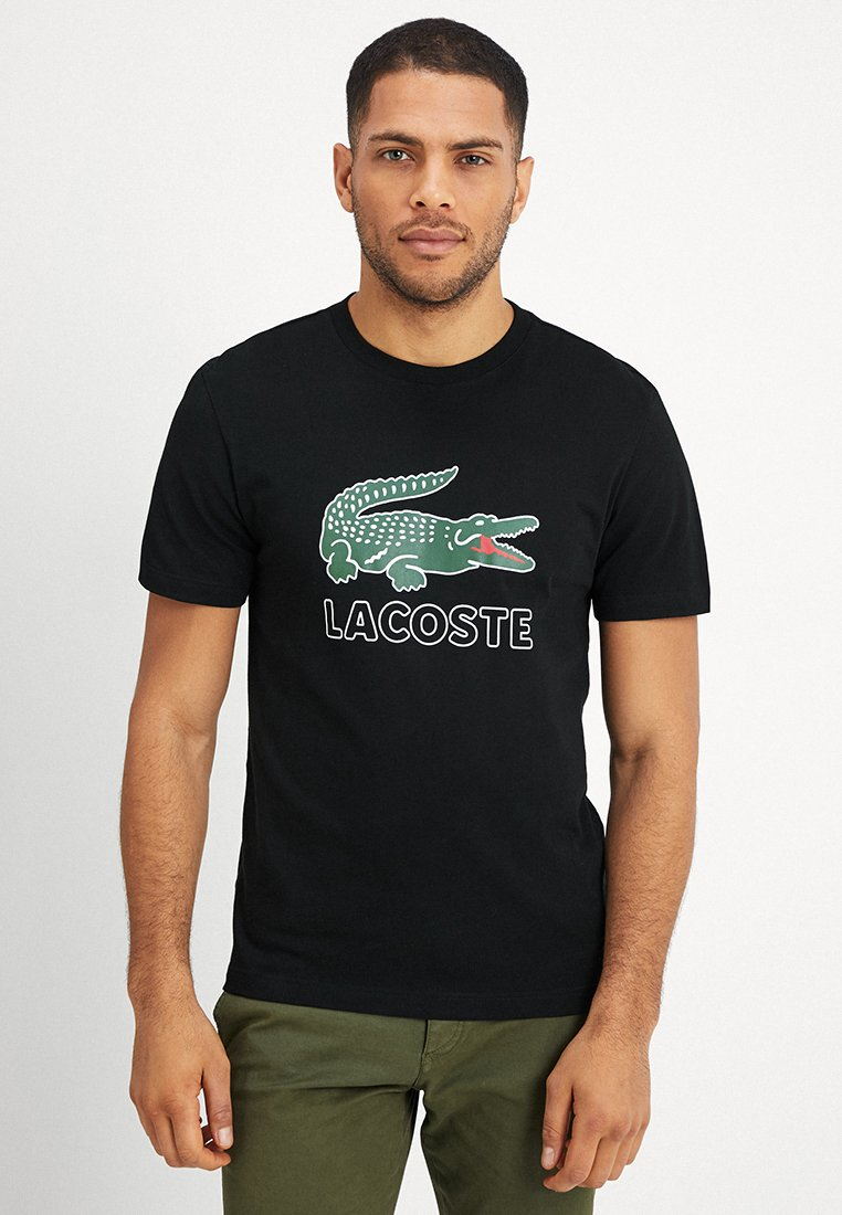 Lacoste - T-shirt con stampa - black