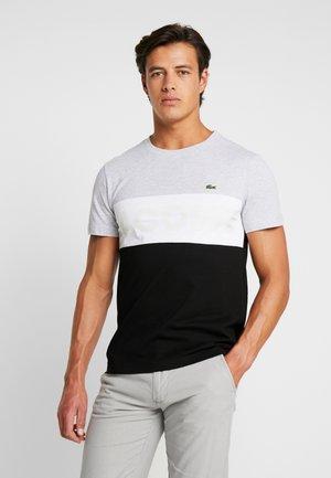 T-Shirt print - argent chine/blanc-noir