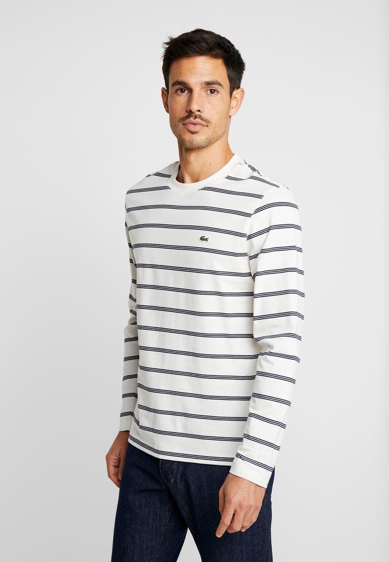 Lacoste - T-shirt à manches longues - flour/navy blue