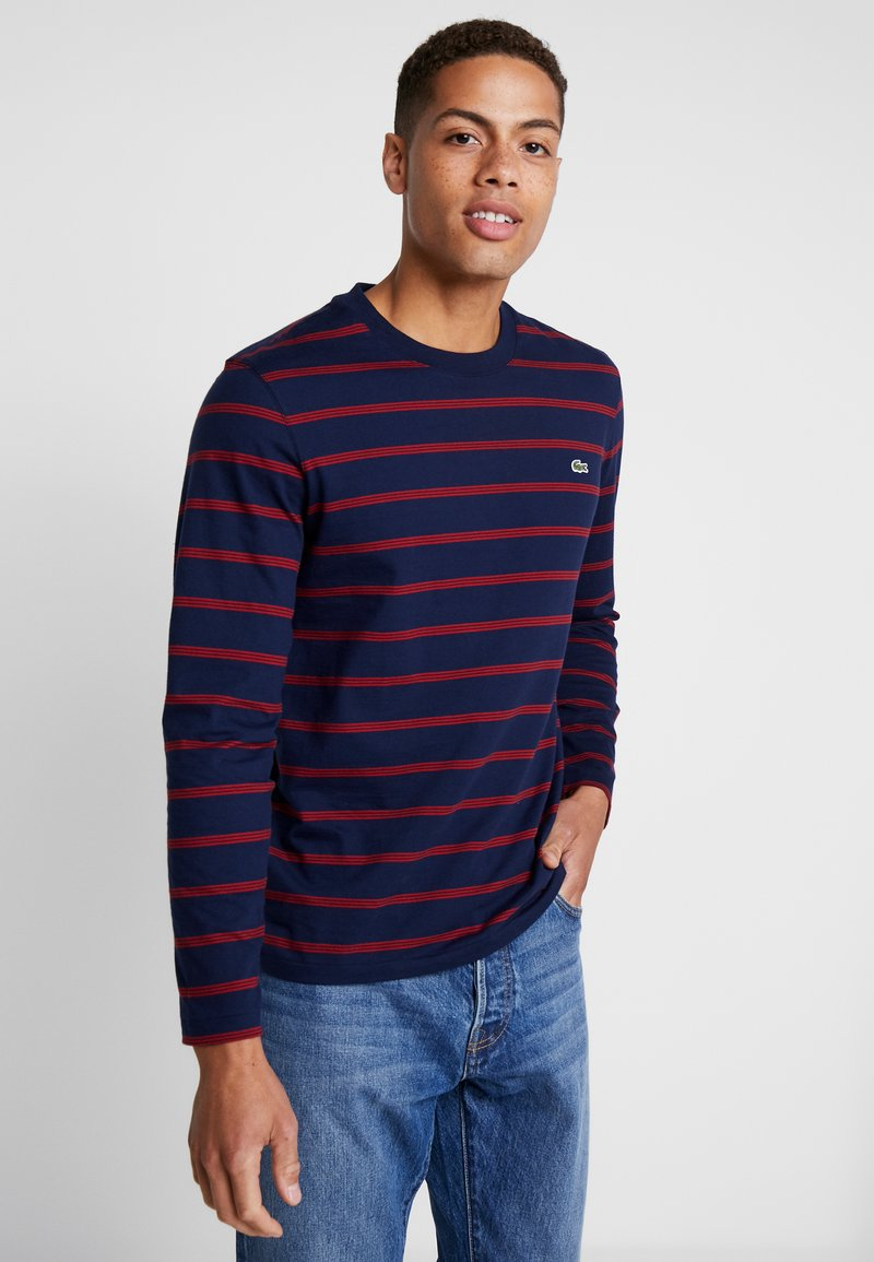 Lacoste - Langærmede T-shirts - navy blue/alizarin