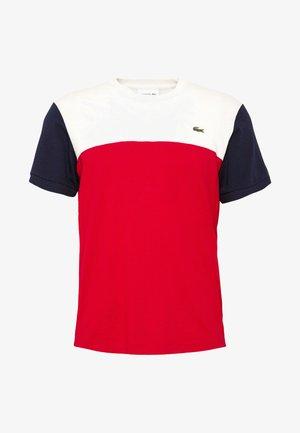 Print T-shirt - rouge/farine/marine