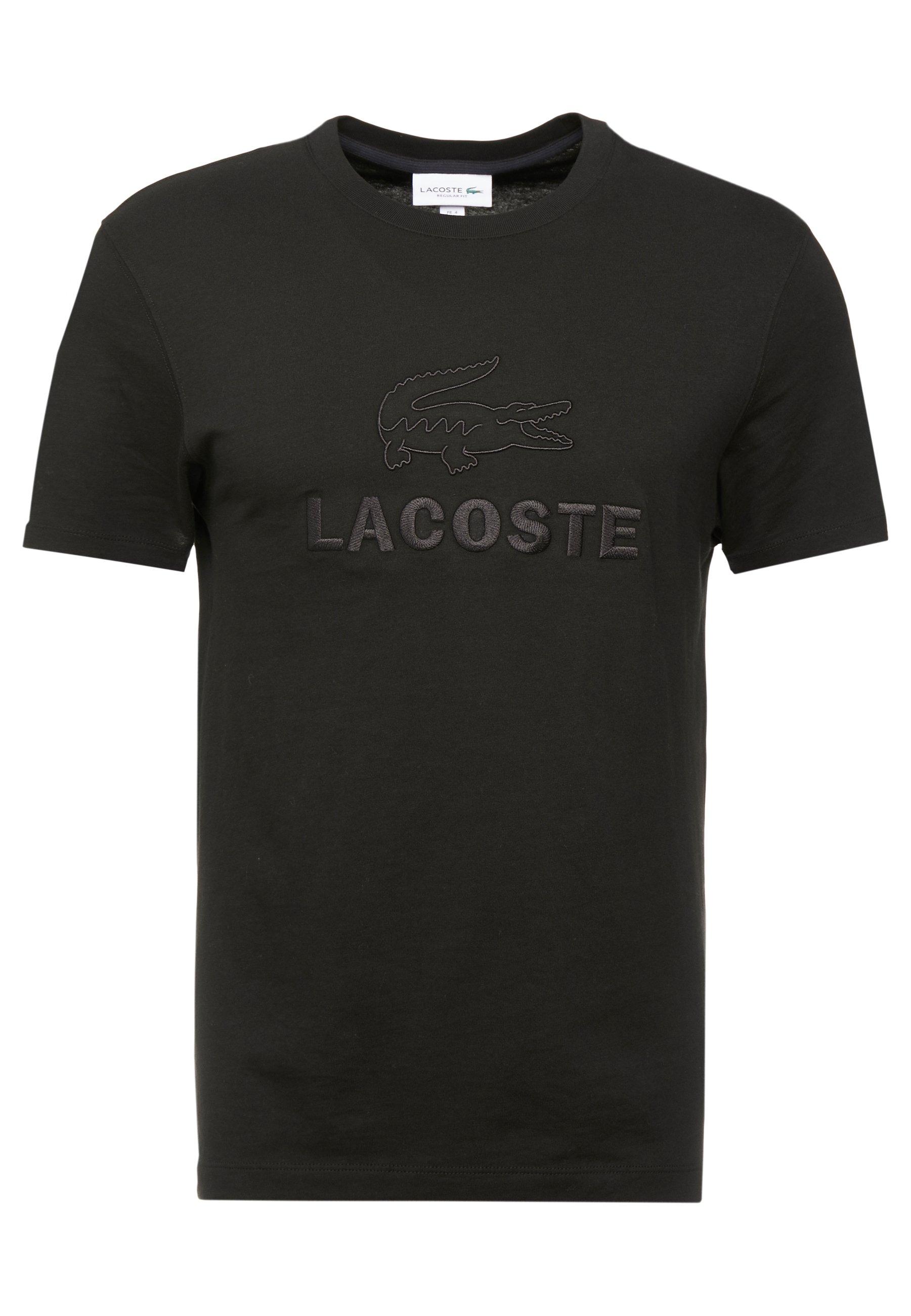 Lacoste TH8602-00 - T-shirt z nadrukiem - noir