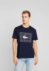 Lacoste - TH5097-00 - T-Shirt print - marine - 0