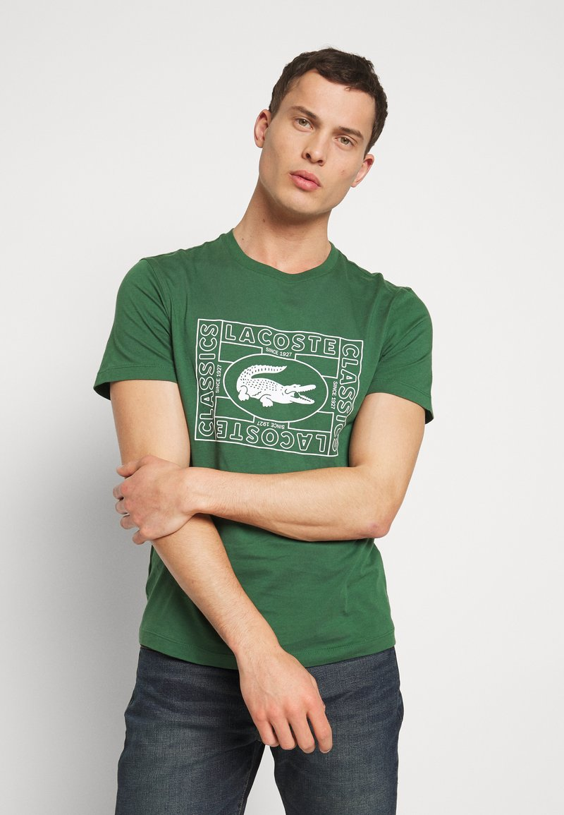 Lacoste - TH5097-00 - Triko s potiskem - dark green