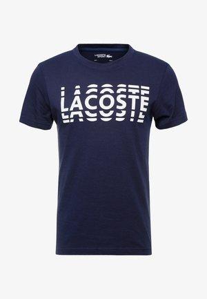T-Shirt print - marine/blanc
