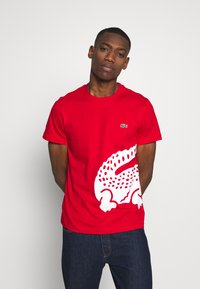 Lacoste - T-shirt imprimé - red - 0