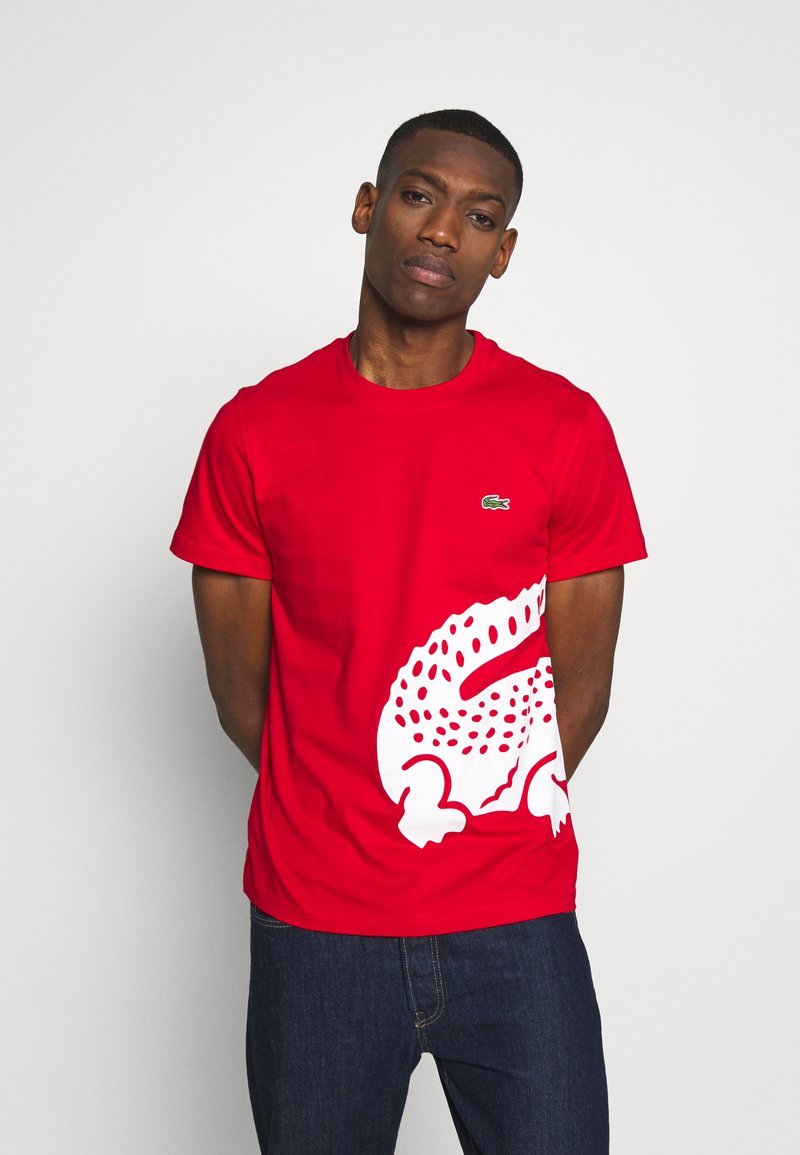 Lacoste - T-shirt imprimé - red
