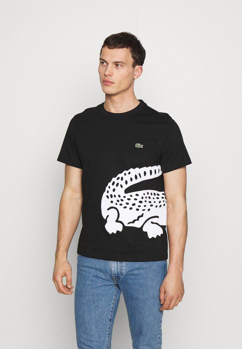 Lacoste - Print T-shirt - black