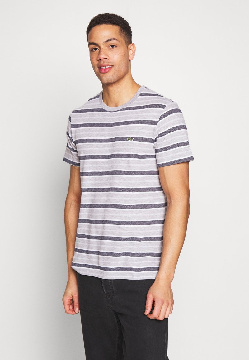 Lacoste - TH5141-00 - T-shirt med print - silver chine/white-navy blue
