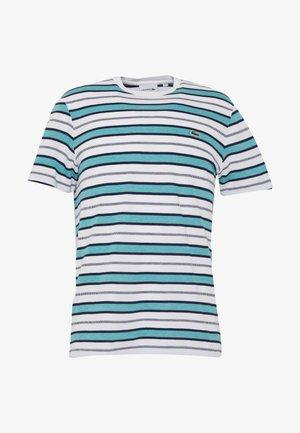 TH5141-00 - T-shirts print - white/navy blue niagara blue