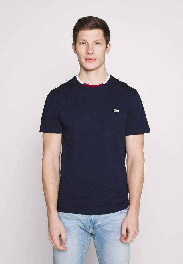 T-shirt basic - navy blue/flour bordeaux
