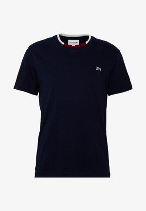 Basic T-shirt - navy blue/flour bordeaux
