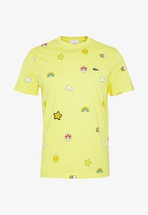 Unisex Lacoste x FriendsWithYou Print Cotton T-shirt - T-shirt z nadrukiem - citron