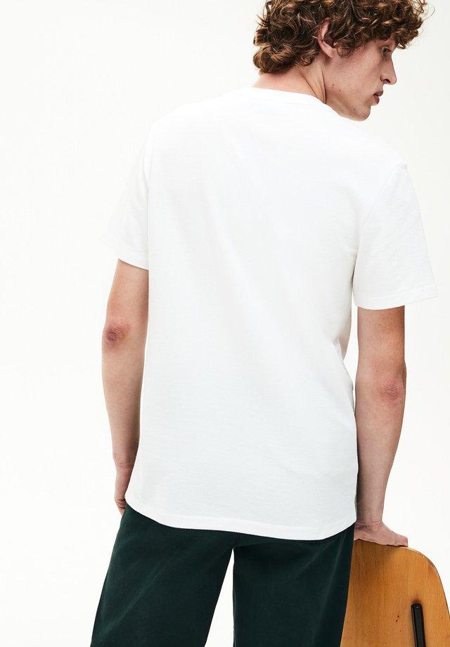 T-shirt imprimé - khaki green/white/Navy Blue