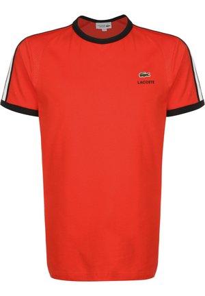 LACOSTE T-SHIRT SPORTSWEAR - T-shirt imprimé - corrida/nois-blanc