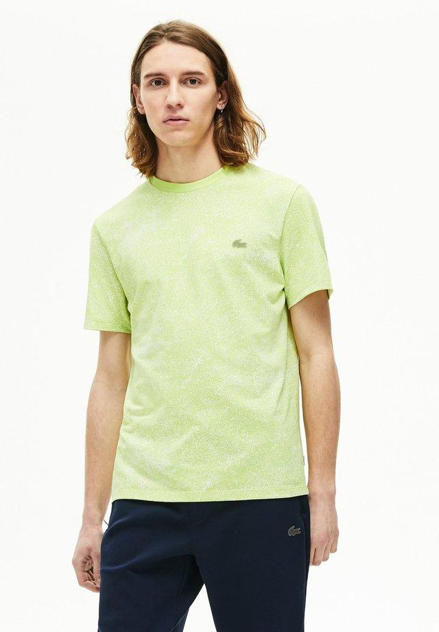 TH5287 - T-shirt imprimé - jaune fluo