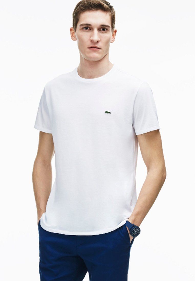 Lacoste - TH6709 - T-shirt basique - blanc