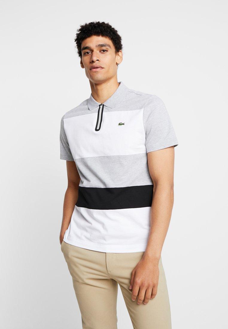 Lacoste - Polo shirt - argent chine/blanc/noir