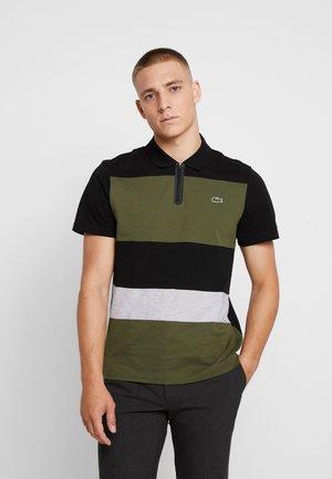 Polo shirt - noir/brousse/argent chine