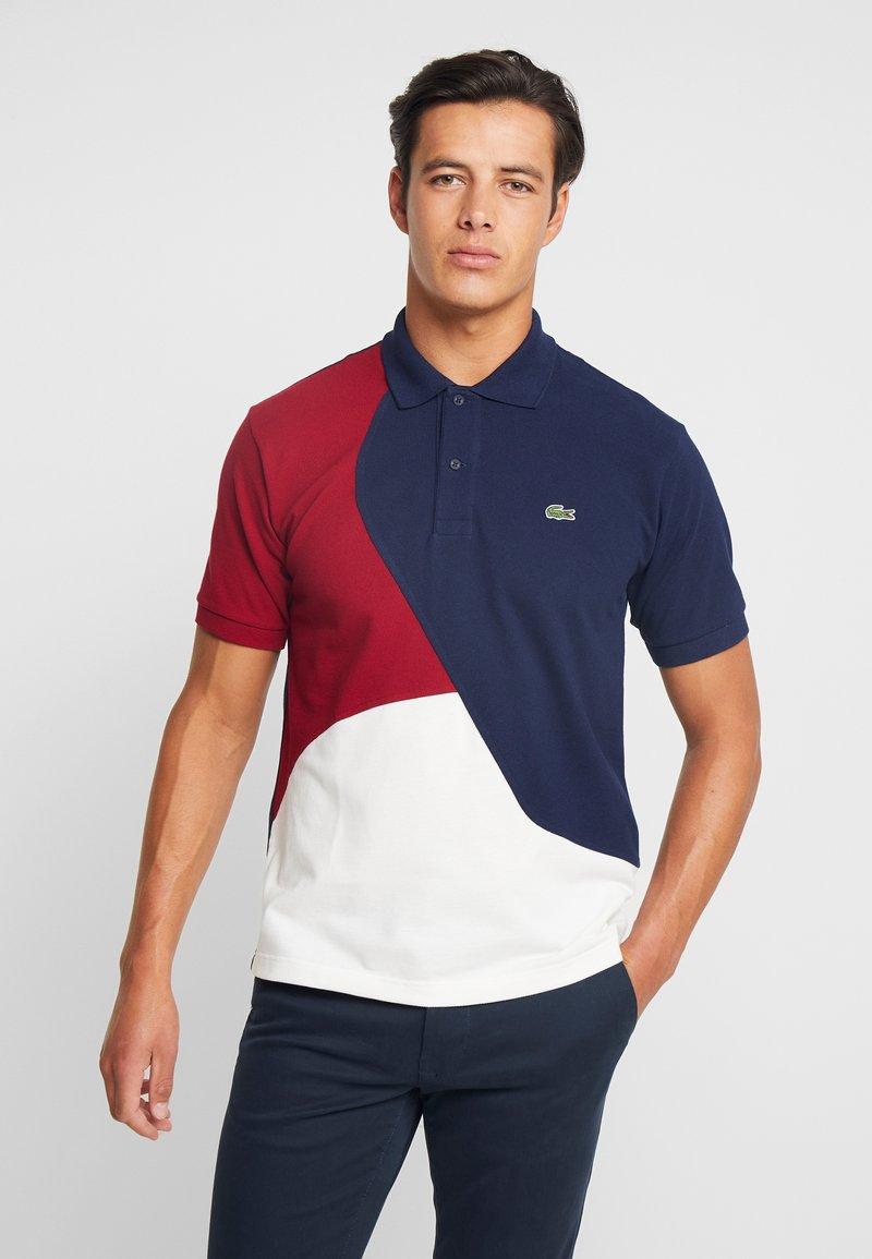 Lacoste - Polo shirt - farine/marine/bordeaux