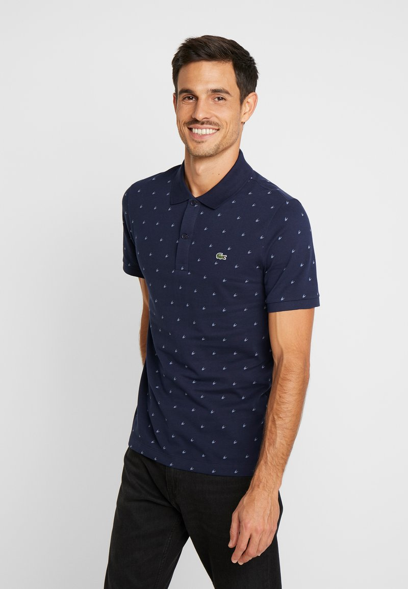 Lacoste - SLIM FIT PH8867  - Polo - marine/blanc