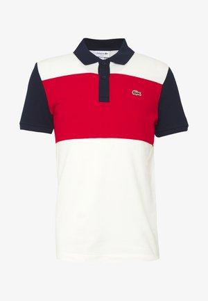 Polo shirt - farine/rouge/marine