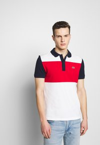 Lacoste - Polo shirt - farine/rouge/marine - 0