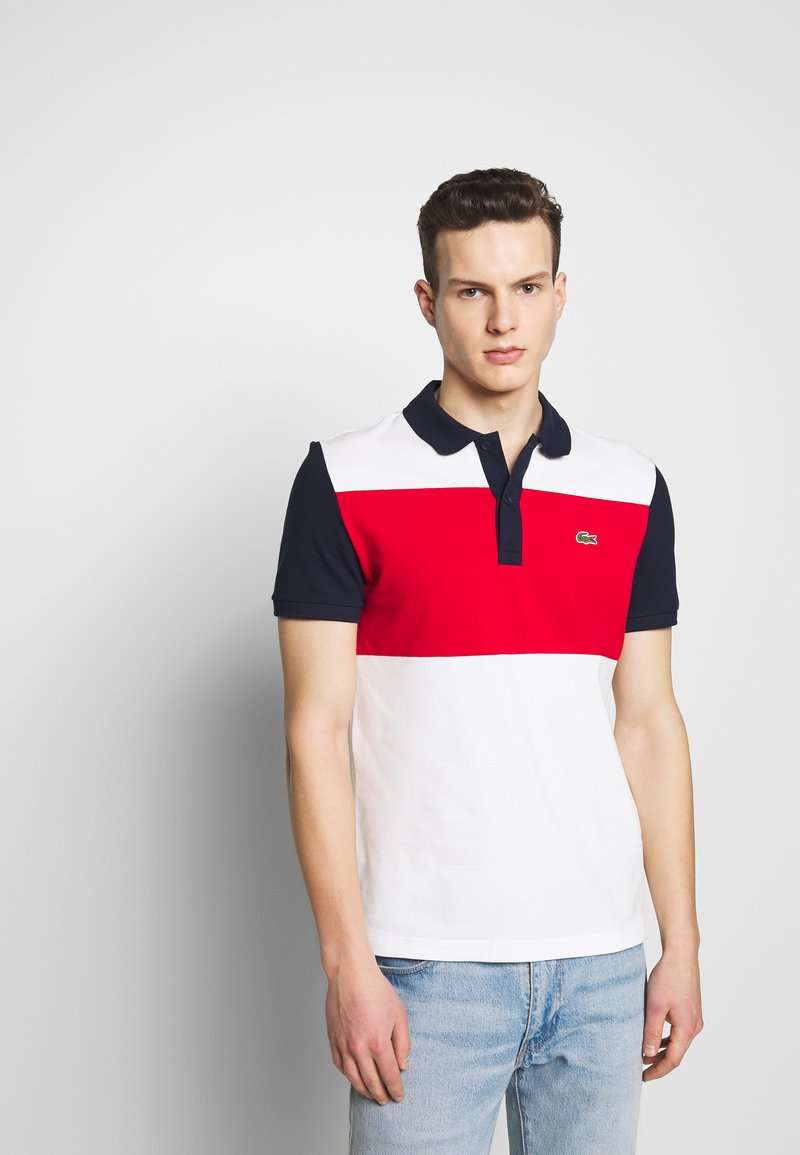 Lacoste - Polo shirt - farine/rouge/marine