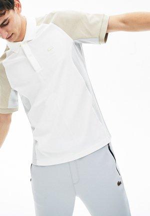 Polo shirt - blanc / gris / beige