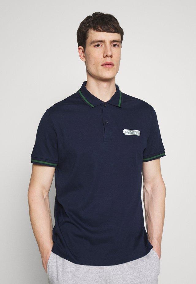 Polo - navy blue/black green