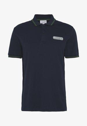 Polo shirt - navy blue/black green