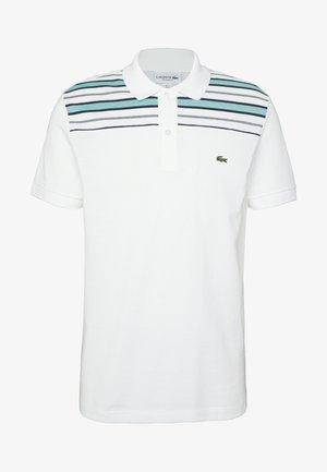 Polo shirt - white/navy blue/niagara blue