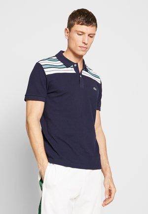 Polo shirt - navy blue/white/niagara blue