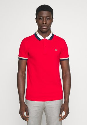 Polo shirt - red/navy blue-viennese-flour