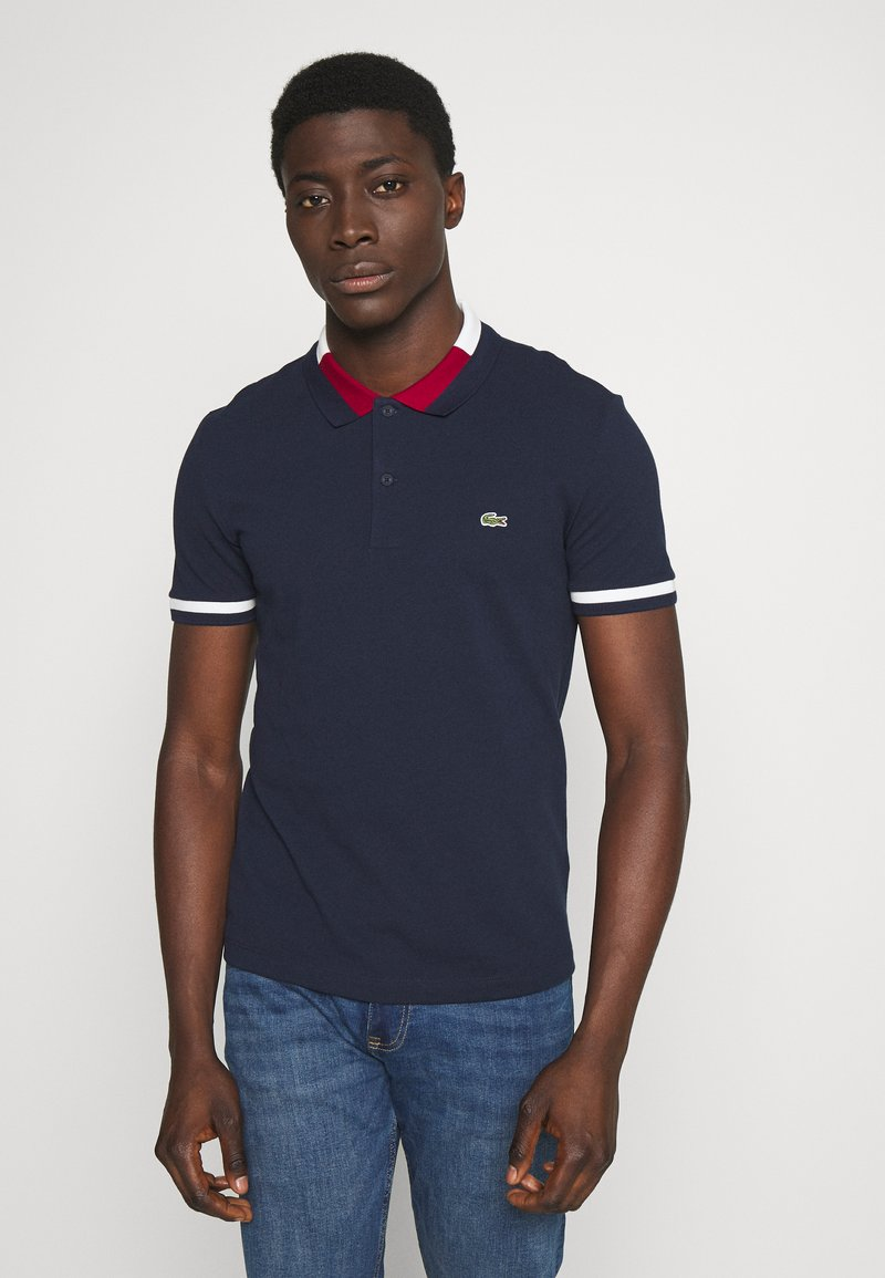 Lacoste - Polo shirt - navy blue/flour/bordeaux