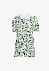 Lacoste - Unisex Lacoste x Jeremyville Print Regular Fit Piqué Polo Shirt - Poloshirts - blanc/multico - 0
