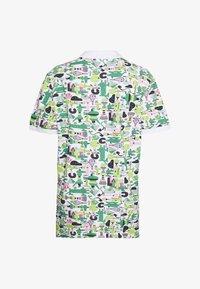 Lacoste - Unisex Lacoste x Jeremyville Print Regular Fit Piqué Polo Shirt - Poloshirts - blanc/multico - 1