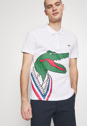 Unisex Lacoste x Jean-Michel Tixier Print Classic Fit Polo Shirt - Poloshirt - blanc/rouge