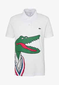 Lacoste - Unisex Lacoste x Jean-Michel Tixier Print Classic Fit Polo Shirt - Poloshirt - blanc/rouge - 4
