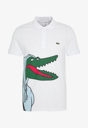 Unisex Lacoste x Jean-Michel Tixier Print Classic Fit Polo Shirt - Poloshirt - blanc/cicer