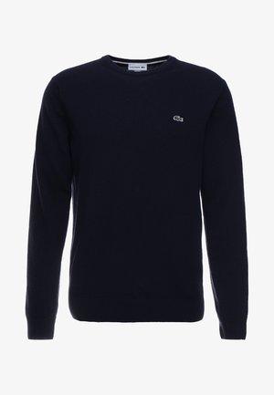 AH0841 - Jersey de punto - navy blue/sinople-flour