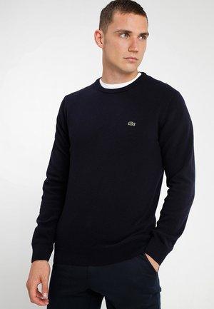 AH0841 - Stickad tröja - navy blue/sinople-flour
