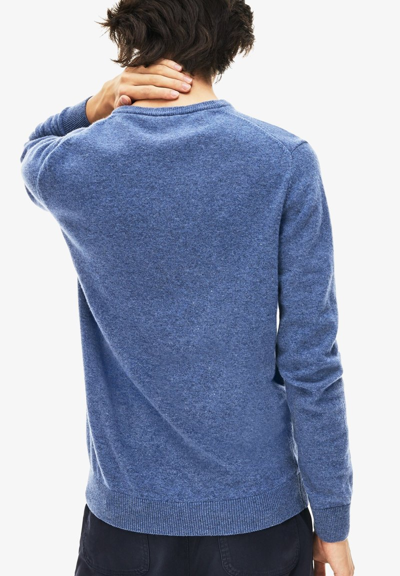 Lacoste - AH0841 - Pullover - heather blue/navy blue/white