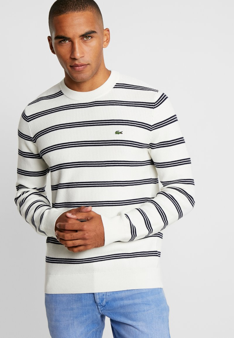 Lacoste - Jumper - flour/navy blue